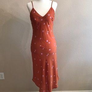 Audrey 3+1 slip dress orange